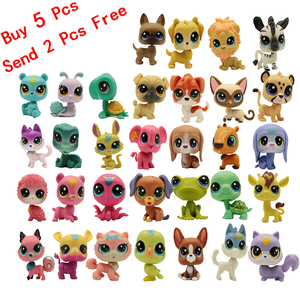 4-5 cm Loose Old Pet Shop Toys Cat Puppy Figure Mini Toy Figures Classic Little Pet Toys Buy 5 Pcs Random Get 2 Free(China)