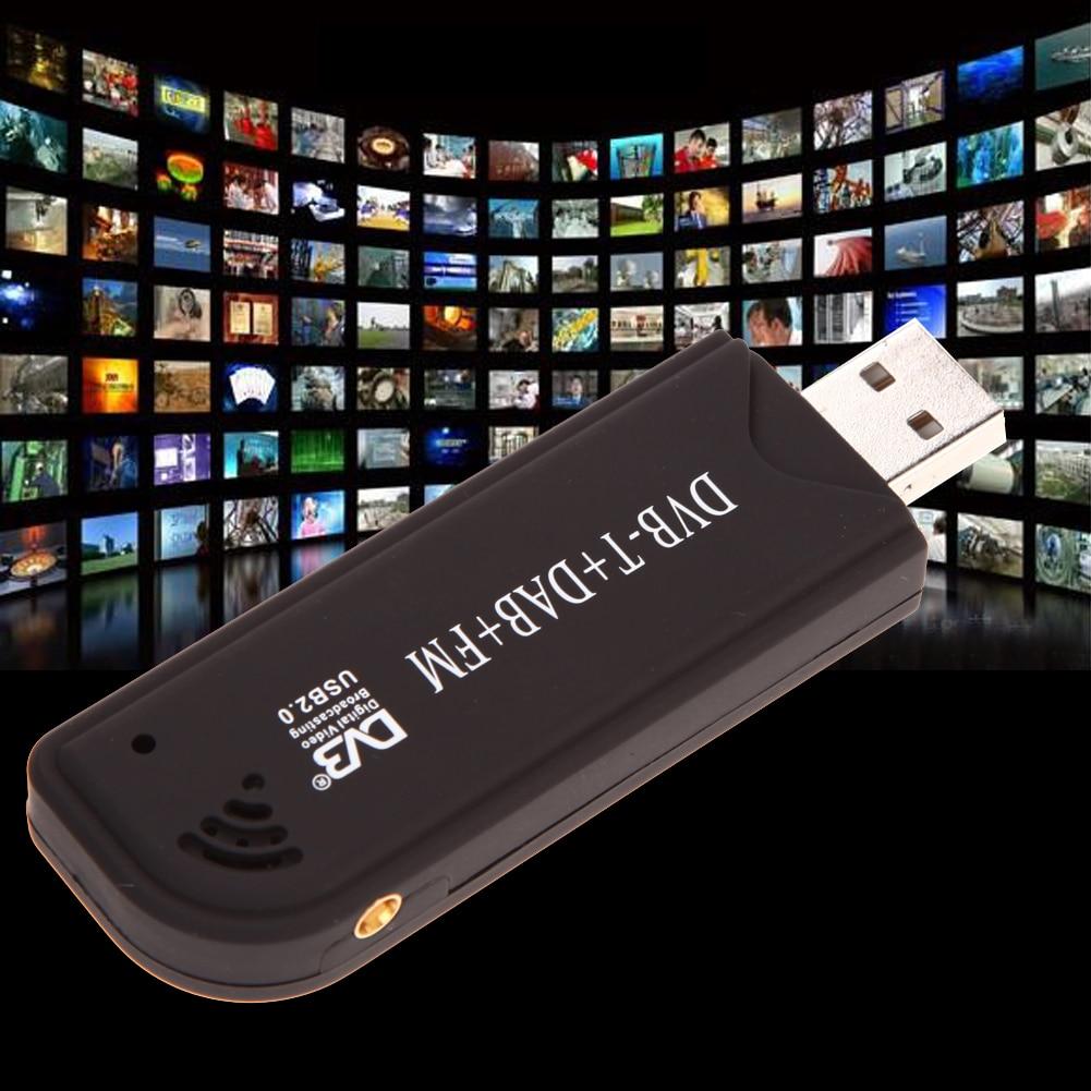 USB 2,0 цифровой DVB-T SDR + DAB + FM ТВ тюнер приемник палка RTL2832U + FC0012 Домашнее аудио и видео оборудование