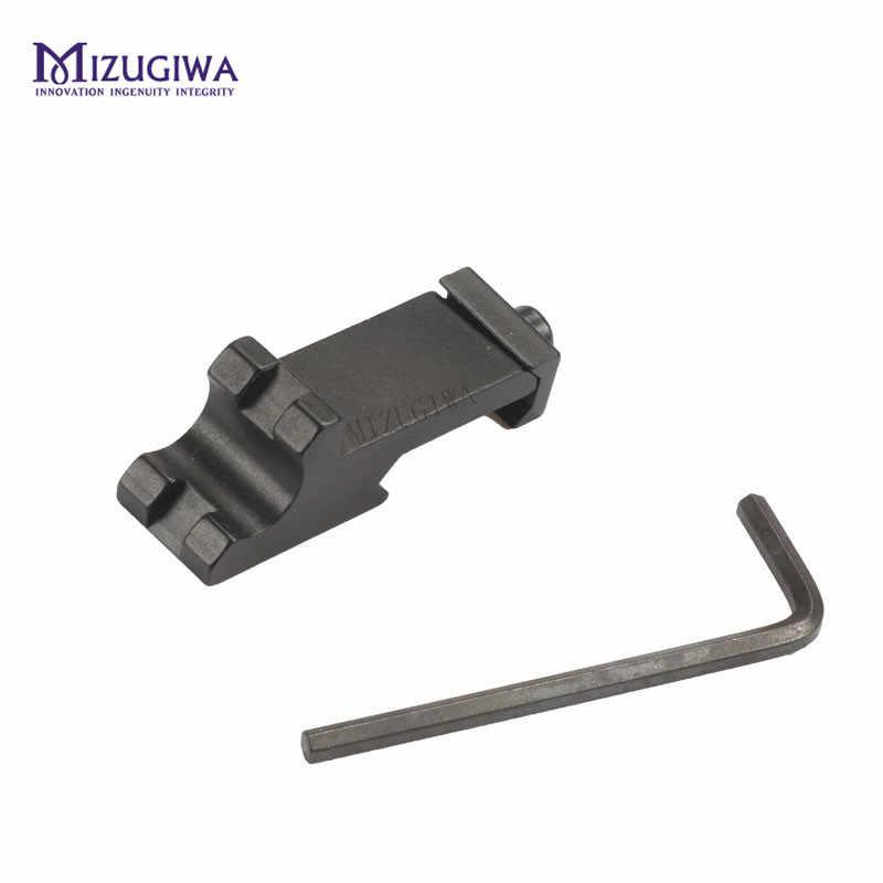 MIZUGIWA Scope Mount Tactical 45 grados ángulo Offset adaptador lateral RTS 20mm Picatinny ferroviario Rifle de Caza