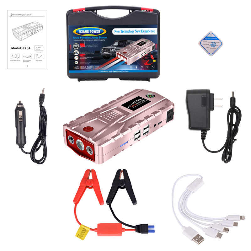 Super Power urządzenie zapłonowe 12V 800A urządzenie do uruchamiania awaryjnego samochodu 21000mAh Power Bank przenośna ładowarka do benzyny Diesel wzmacniacz do akumulatora samochodowego