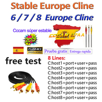 Europe 4 6 Lines Cccam 4 6 Europe Full HD 1 Year Cccams for Europe Use for Satellite TV Receiver DVB-S2 hd