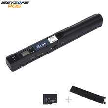 ISSYZONEPOS Portable Handheld Document Scanner Image Scanner for Document File Image for PC Mac Free 16G Micro Card With Battery