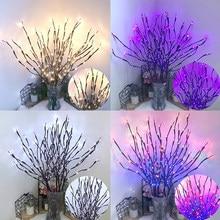 Luz da corda simulação ramo férias casa decoração ramo luz led nordic quarto layout barra decorativa