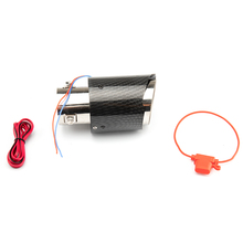 Tailpipe with High-Temperature-Resistant Led-Lamp Red/blue Carbon-Fiber Modified Light-Emitting