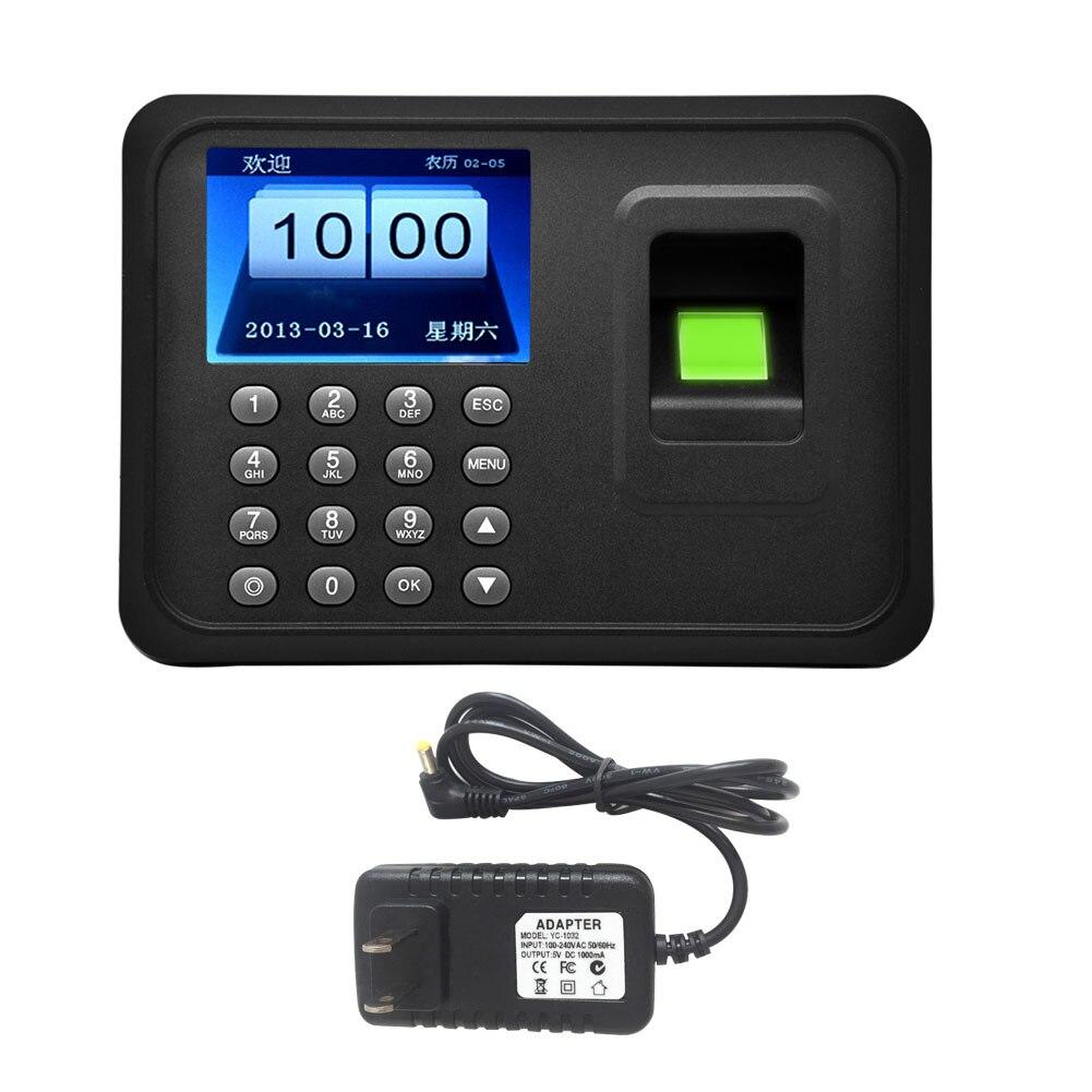 A6 Access Control biometric fingerprint punch usb time clock office attendance recorder timing employee machine reader