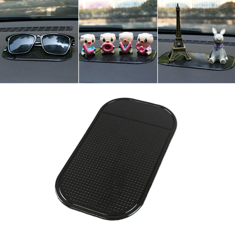 Black Anti-Slip Car Dash Sticky Gel Pad Non-Slip Universal Mount Phone Holder Car Mat Washable Silicone Gel Pad Car Accessories
