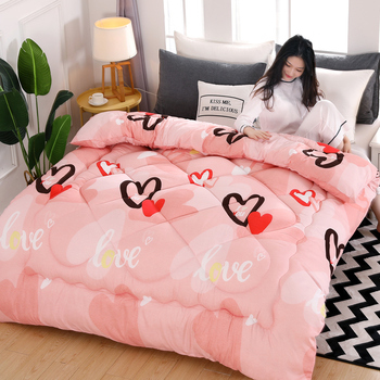 New Home Textile Quilt 1-4Kg weight Soft And Warm Bed Duvet Camo Fleece Quilt Ab Side Patchwork Quilts Thicken Winter Comforter