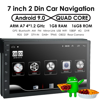 Android 2din Car Multimedia MP5 Player Radio GPS Navi WIFI Autoradio 7'' Touch Screen Bluetooth FM Audio Car Stereo Rds USB DTV image