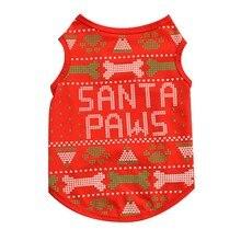 Christmas Print Pet Vest Clothes for Dogs/Cats Dog Costume Cute Vests T-shirt Puppy Supplies XS-L