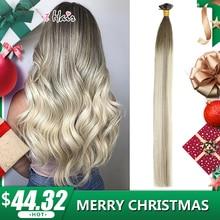"""HiArt 0,8 г/шт. плоским наконечником волос реальные человеческие волосы выметания дважды обращается салон Стиль квадратный Совет волосы прямые 1"""" 20"""" 22"""""""