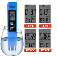 New TDS EC Meter Temperature Tester pen 3 In1 Function Conductivity Water Quality Measurement Tool TDS&EC Tester 0-9990ppm 15%