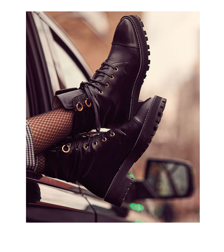 Botas Mujer gothique noir bottines pour femme à lacets Combat militaire bottes femme bas talon épais moto Bot Punk chaussures