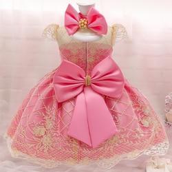 Ano novo traje para meninas do bebê vestido de princesa 3 6 9 12 18 24 meses criança crianças festa de natal 1st 1 2 anos de idade vestido de aniversário