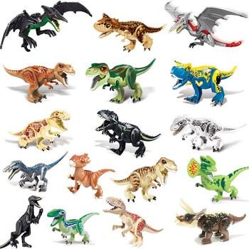 Bricks Jurassic Park Dinosaur World FigurinesTyrannosaurus Triceratops Model Set Building Blocks Figures Dinosaurs Toy for Boys jurassic world dinosaur set 10928 10927 10926 compatible with lepining 75930 75932 model building kits blocks bricks toy gift
