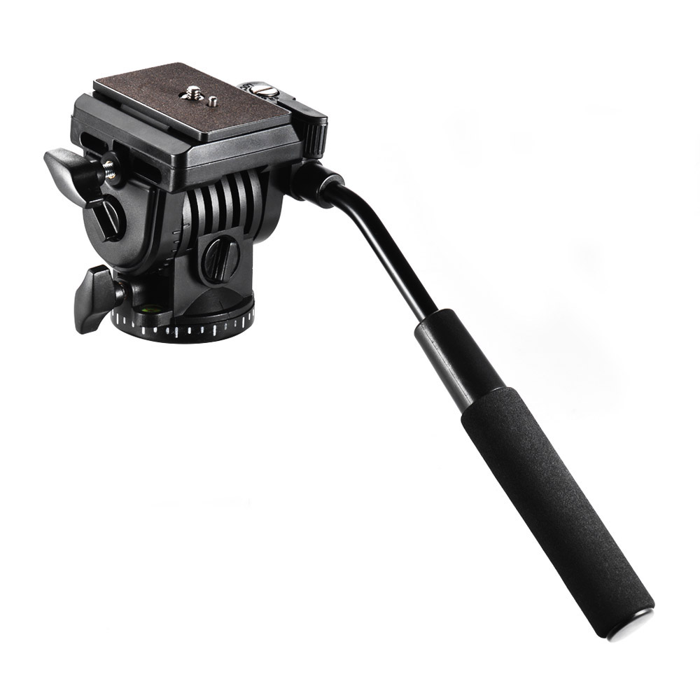 Andoer Tripod Head 360 Fluid Drag Video Action Head Panoramic Hydraulic Damping Photographic Head for Canon Nikon DSLR Camera