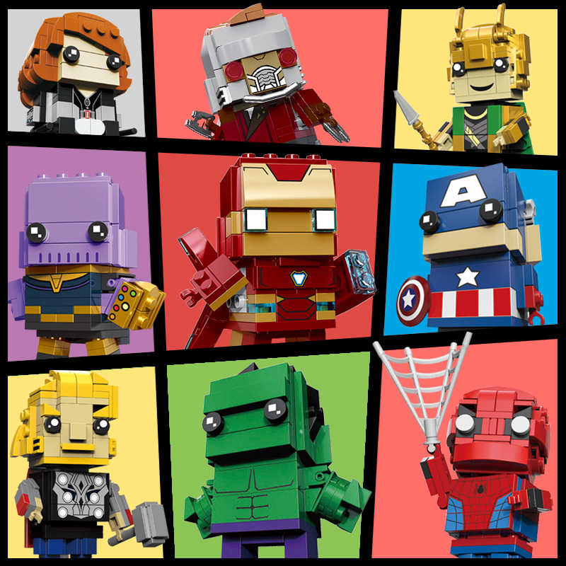 Decool Super Heroes Blcoks Marvels LGSET Avenger Endgame BrickHeadzs Iron Man Building Blocks Bricks Educational Toys Gifts