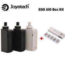 Elektroniczny papieros Joyetech EGO AIO skrzynka narzędziowa 2ml pojemność atomizera BF SS316 cewka i 2100mAh wbudowana bateria joyetech AIO Kit tanie tanio Z Baterią Metal Joyetech eGO AIO BOX Kit e-liquid 23mm x 43mm x 97mm 0 6ohm 100-315C 200-600F BF SS316-0 6ohm MTL 19 5