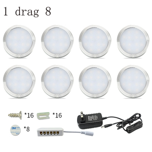 Image 2 - 4/6/8 шт. Светодиодная подсветка под шкаф, Кухонные светильники 12 В 2 Вт, барная лампа с переключателем, лампа для домашнего гардероба, витрина, декоративные лампы