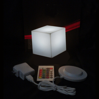 RGB Rechargeable Led illuminated Furniture Remote Control Outdoor Led Cube Chair bar KTV Pub Plastic Tables lighting AC80-265V classic plastic pe outdoor waterproof led floor lamp remote control rechargeable led glowing flower pot floor boughpot