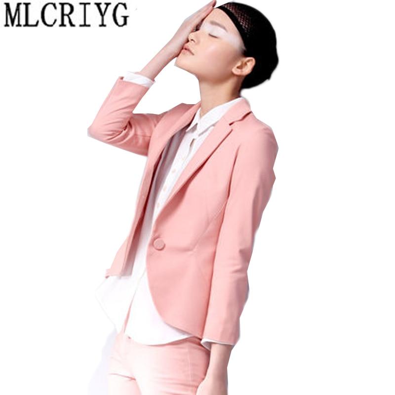 New Spring 2020 Women Blazers And Jackets Korean Casual Single Button Soild Coat Female Blazer Lady Office Feminino Outwear LX44