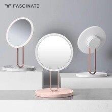 Светодиодный настольный заполняющий свет одностороннее зеркало подарок на день влюбленных стиль Модный Настольный органайзер зеркало зарядка через usb макияж зеркало