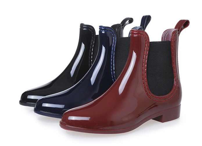 2019 Mới Ủng Cao Su dành cho Nữ PVC Mắt Cá Chân Giày Đi Mưa Chống Thấm Nước Hợp Thời Trang Jelly Nữ Boot Thun Mưa Người Phụ Nữ