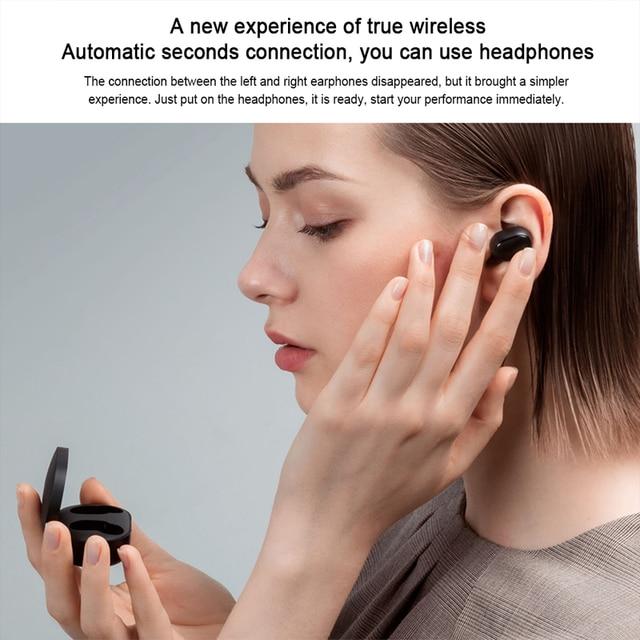Mi oryginalny Xiaomi Redmi Airdots TWS Bluetooth 5.0 bezprzewodowe słuchawki Bluetooth Stereo bass słuchawki douszne airdots s pro 2