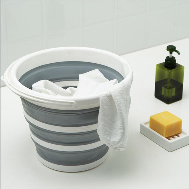 Bucket Foldable Bucket Multifunctional Household Outdoor Picnic Originality  Hand-Held Convenient Bath Laundry Storage Bucket