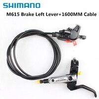 Shimano DEORE M615 Mountain Bike Bicycle Hydraulic Disc Brake Left Lever 1350mm Rear BL+BR M615 MTB Bike Brak