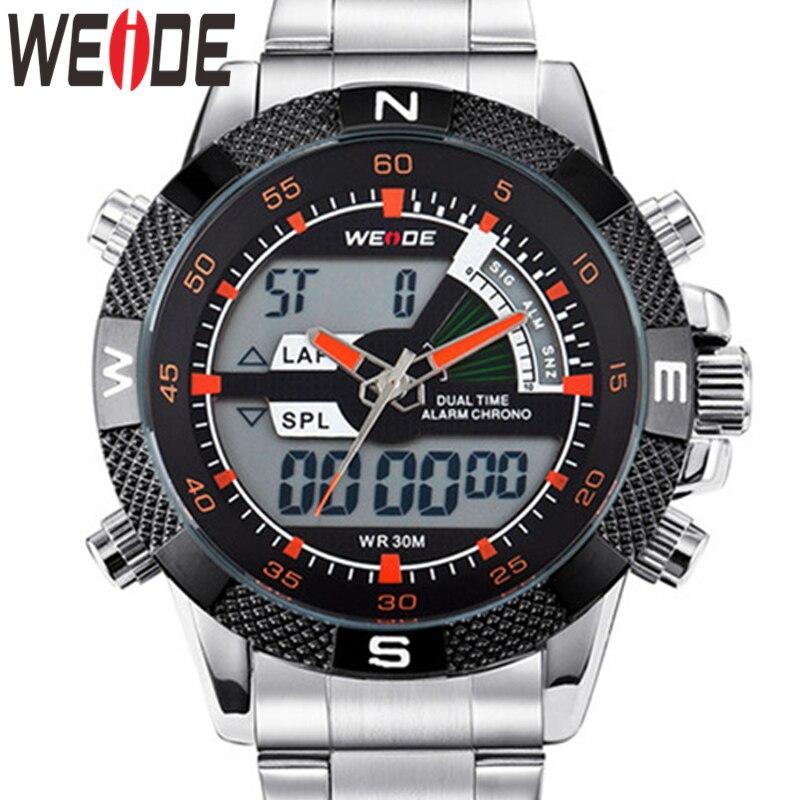 WEIDE Watch Men Relogio Quartz Military Watch Alarm Analog Reloj Hombre Watch Digital Wristwatch Relogio Masculino Men's Watches