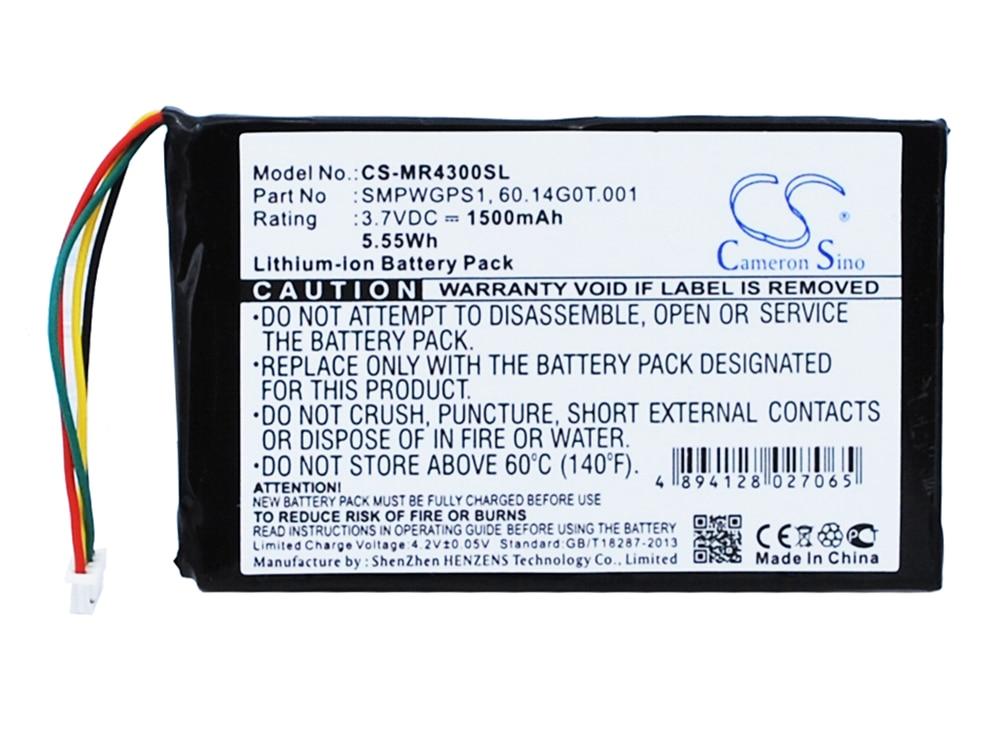 Cameron Sino 1500mAh Battery  for Magellan Maestro 4300, 4350, 4370,60.14G0T.001, SMPWGPS1