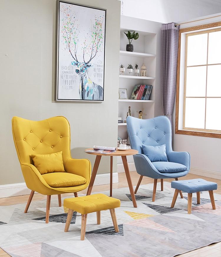 Nordic Living Room Single Sofa Chair Balcony Mini Sofa Modern Minimalist Lounge Chair Bedroom Room Leisure ArmChair