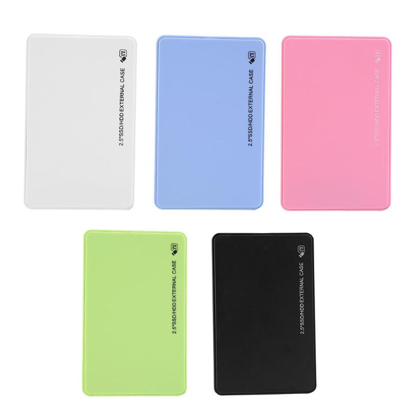 Portable HDD Case 2.5 Inch SATA To USB 3.0 Enclosure 5Gbps External SSD Hard Disk Drive Box For HD Hard Drive Disk Computer PC