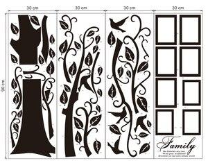 Image 4 - Бесплатная доставка: Большие 200*250 см/79*99 дюймов, черные 3D DIY Фото Дерево, ПВХ настенные наклейки/клейкие Семейные настенные наклейки, роспись, искусство, домашний декор