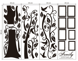Image 4 - Free Shipping:Large 200*250Cm/79*99in Black 3D DIY Photo Tree PVC Wall Decals/Adhesive Family Wall Stickers Mural Art Home Decor