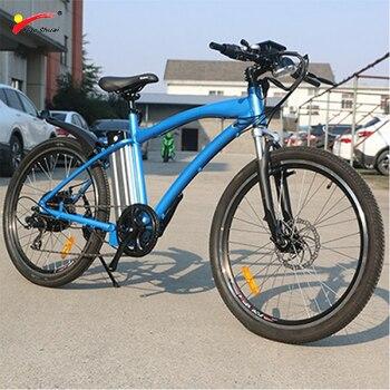 Bohemian-batería de litio de Bicicleta eléctrica, 7 velocidades, DC48V, 500W, 12Ah, 26X2.125,...