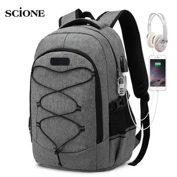 Laptop Backpack 15.6 Inch Unisex Travel Climbing Anti Theft Slim Durable with USB Charging Port Water School Bag  X148A - discount item  55% OFF Camping & Hiking