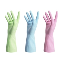 Rubber Gloves-Latex Kitchen Cleaning Gloves Household Waterproof Dishwashing Living Large (3-Pack)