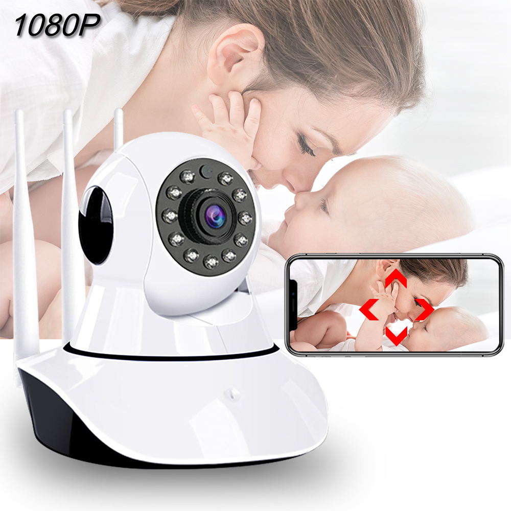 1080P Baby Monitor WiFi Night Vision Cry Alarm Video Baby Camera Two Way Audio Baby Phone Sleeping Nanny Auto Tracking Camera