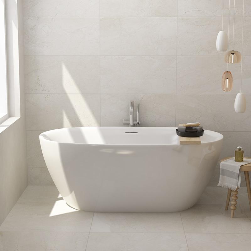 Aojin estilo europeu banheira de família acrílico banheiro único comum banheira autônomo 1500mm-2