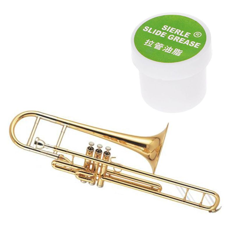 OOTDTY Trombone Trumpet Lubricate Slide Grease Clarinet Brass Instruments Maintain Tool