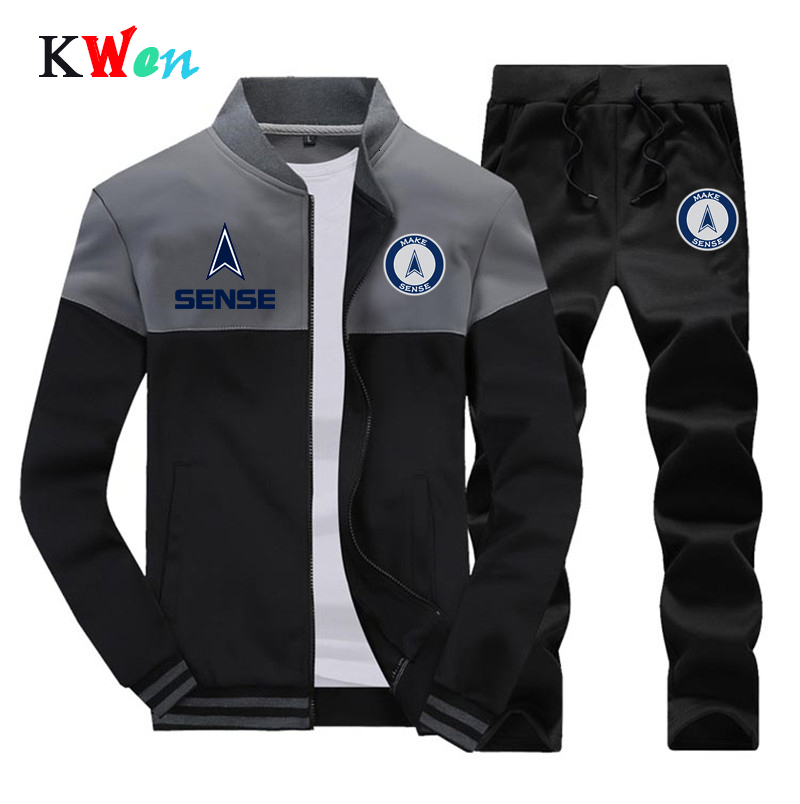 Men Tracksuits Sets US/EU Size Brand New Fashion Sporting Suit Sweatshirt +Sweatpants Mens Clothing 2 Pieces Sets Slim Tracksuit