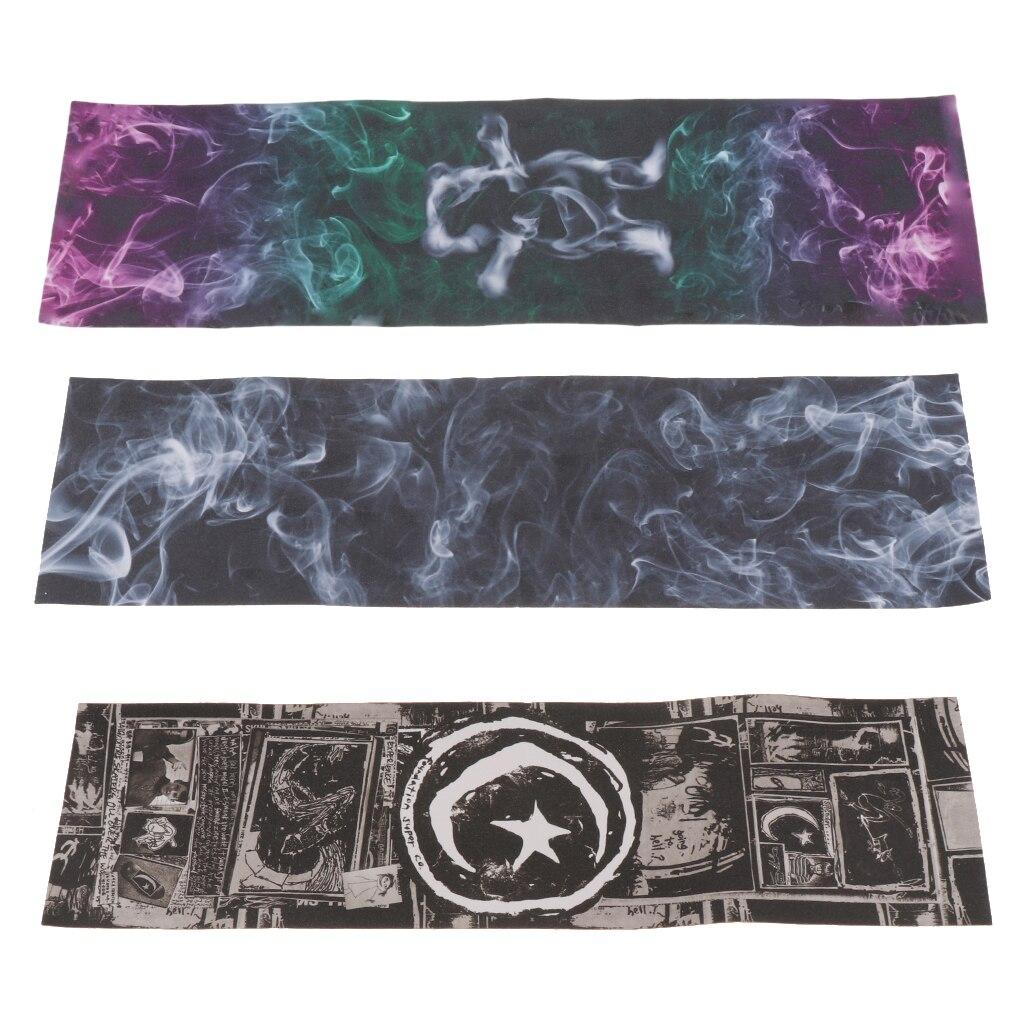 3pcs Skateboard Sandpaper Grip Tape Sticker Long Board Abrasion Decal Anti Slip Griptape LongBoard Scrub Deck Thicken Protector