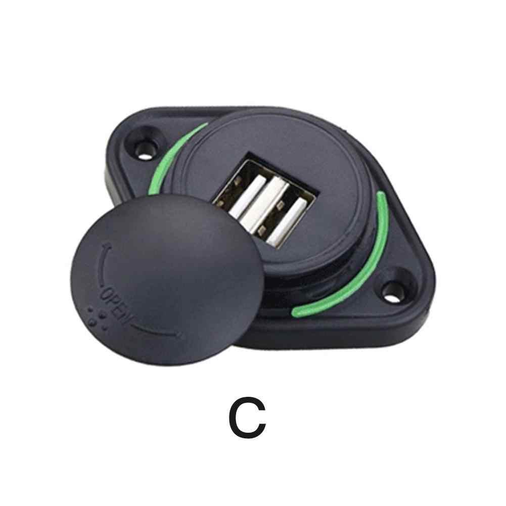USB הכפול LED מטען שקע מטען לרכב כפול עמיד למים מתאם שקע חשמל אוניברסלי עבור 12 V-24 V אופנוע אוטובוס ספינה