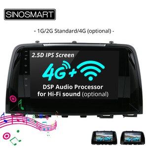 Image 1 - SINOSMART поддержка собственной системы парковки 1 г/2 г Автомобильный gps навигационный плеер для Mazda 6 Atenza/CX 5 32EQ процессор для цифровой обработки сигналов 4 г опционально