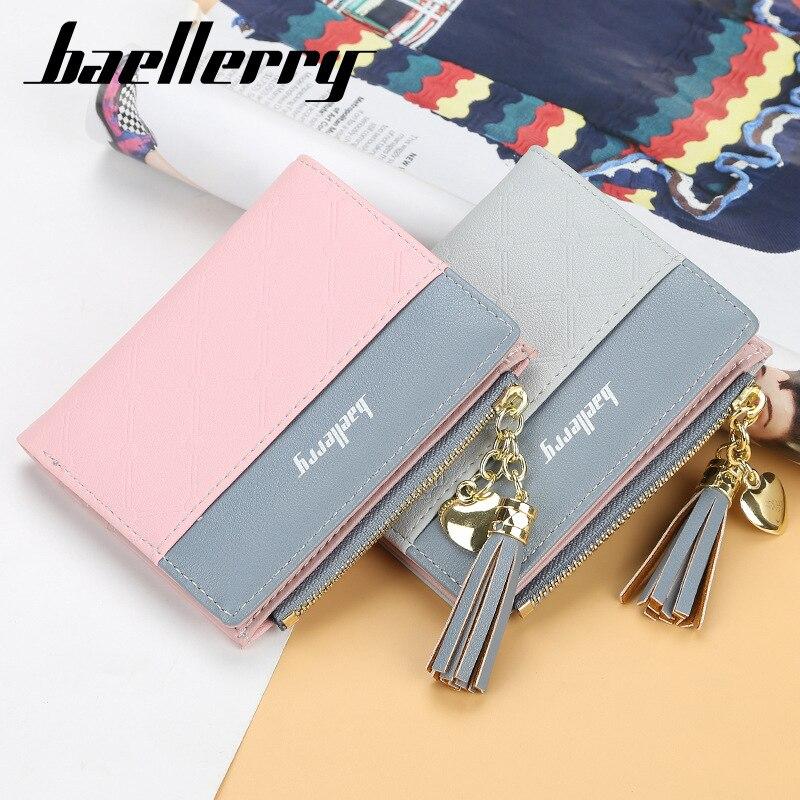 Baellerry Brand Wallet Women Ladies Purse Top Leather Wallet Women Wallet Purse Small Clutch Female Wallets Card Holder Carteira