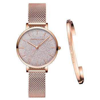 Stainless Steel Mesh Wristwatches Top Brand New Luxury Japan Quartz Movement Rose Gold Designer Elegant Style Watches For Women - discount item  50% OFF Women's Watches