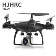 Presente dobrável do brinquedo do quadricóptero do ar rc dos drones da câmera do zangão hj14w com hd 1080p câmera de vídeo wifi fpv bateria que carrega não 4k