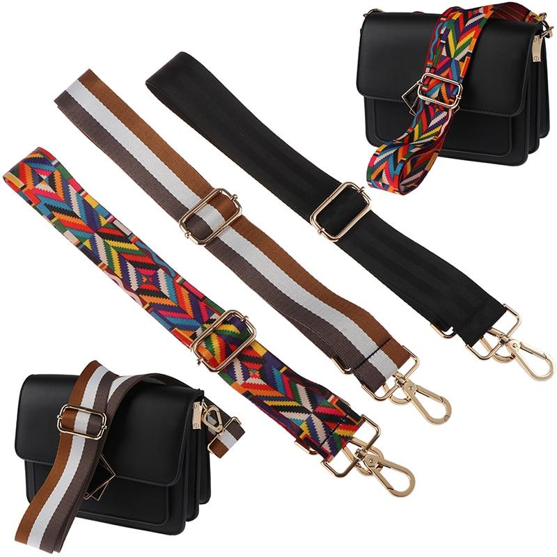 New Belt Shoulder Bag Strap For Crossbody Women Wide Straps For Bags Striped Handles Adjustable Strap Bag Accessories