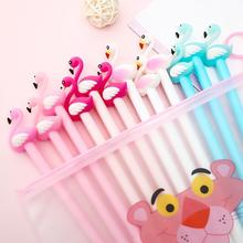 12/100Pcs/Set Pretty Cool Flamingo Kawaii Gel Pens Cute Stationary School Supply Kawai Stationery Office Accessory Lovely Things mac shiny pretty things lip set